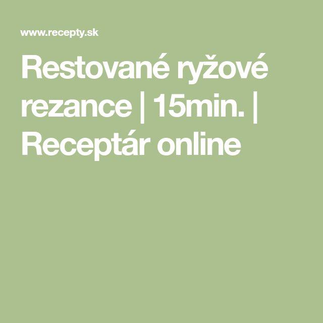 Restované ryžové rezance   15min.   Receptár online