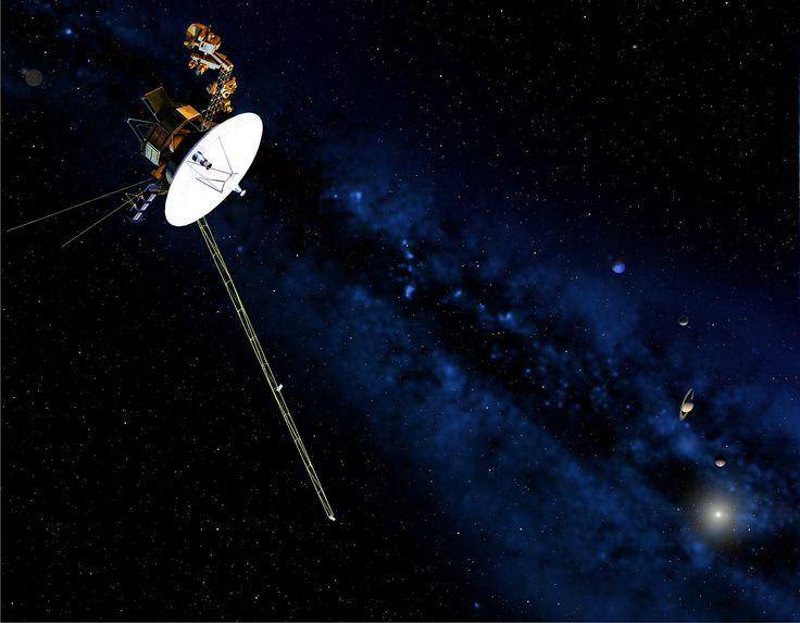 Você sabia que Voyager 1 foi o primeiro objeto feito pelo homem a chegar tão longe? Ela já saiu do sistema solar. Ela contém um disco de ouro com diversas gravações de sons da vida aqui na Terra, de por a caso se encontrar com alguma forma de vida inteligente para ouvi-la.