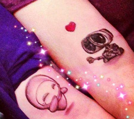 Resultado de imagen para tatuajes para parejas poco comunes wali y eva