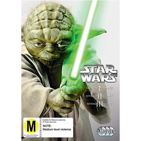Star Wars Prequel Trilogy DVD $29.00