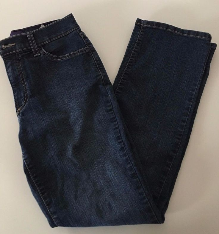 Not Your Daughters Jeans Lift & Tuck Womens Dark Wash Jeans Studded Pocket Sz 2p #NotYourDaughtersJeans #StraightLeg