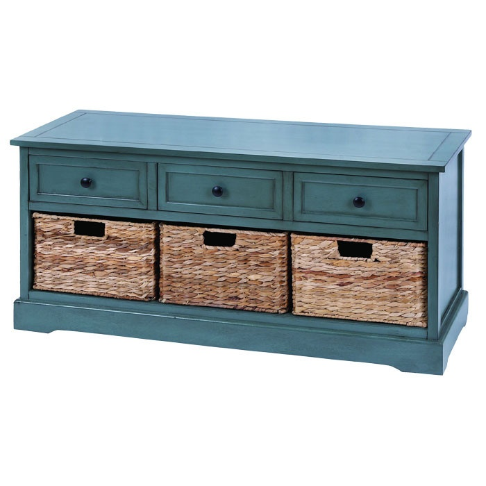 Blue Foyer Cabinet : Connell storage bench i d love this in my foyer pretty