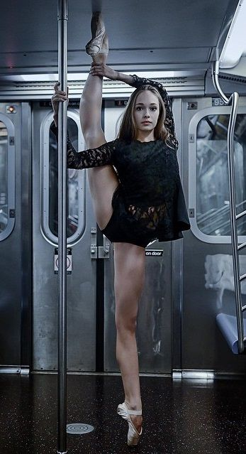 wow I wish I could do this on a subway....not quite that flexible though, and there's no subway here....