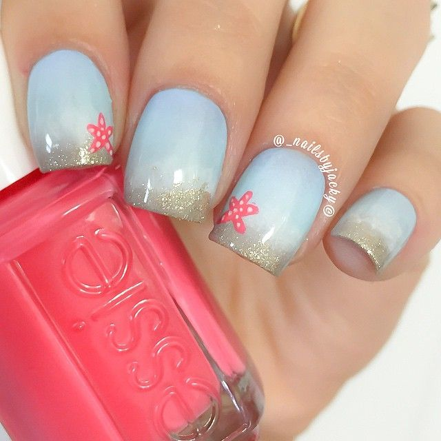 Beach inspired nails did these a couple days ago inspired by all the lovely beach  designs - Best 25+ Beach Nail Designs Ideas On Pinterest Beach Nails