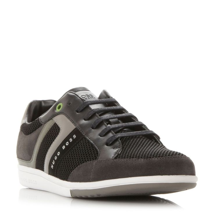 Hugo Boss Spacit Lace Up Trainers, Black