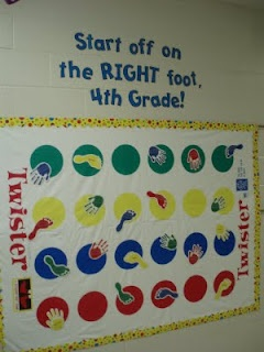 """Change it up and add book covers or titles to the circles, """"Start off on the right foot with the right book!"""""""
