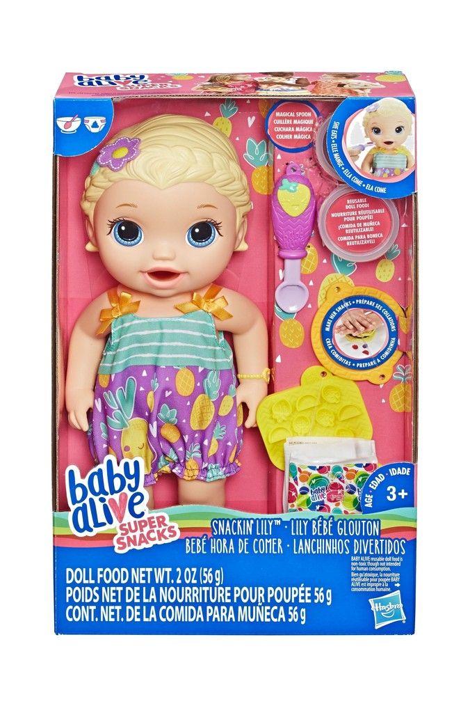 Girls Baby Alive Super Snacks Snackin Lily Baby Baby Girl Toys Baby Alive Dolls Baby Doll Nursery
