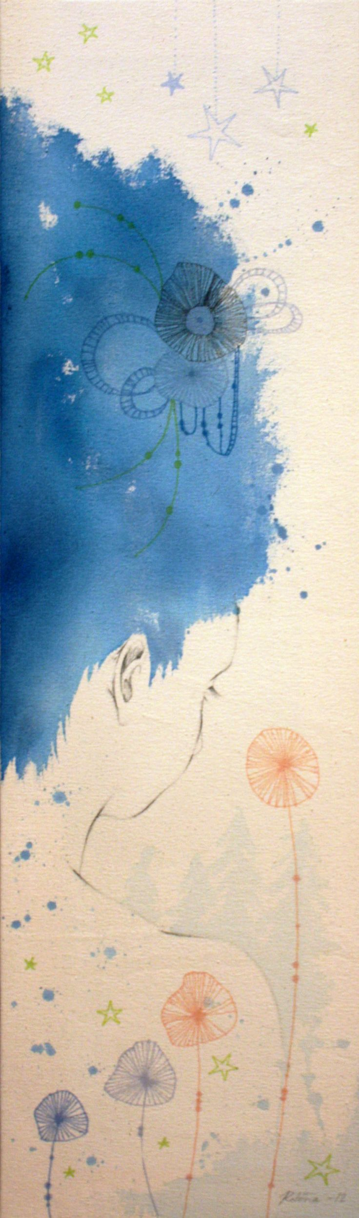 Yötön Yö 2012 (Sleepless Night) Acrylic, markers, pencil on cotton duck