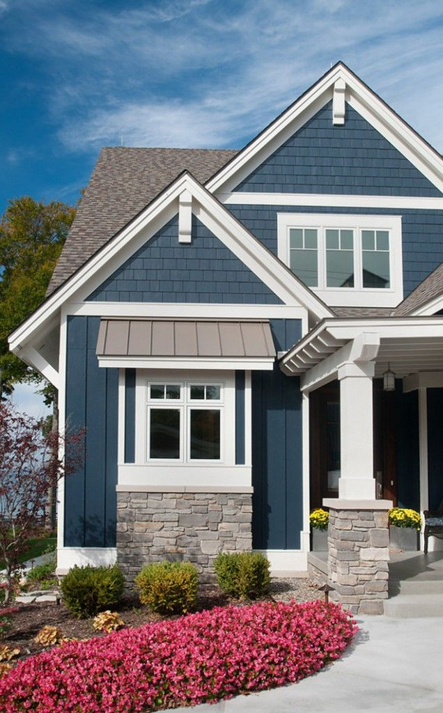 Exterior paint color is bm hale navy exterior paint color - White exterior paint color schemes ...