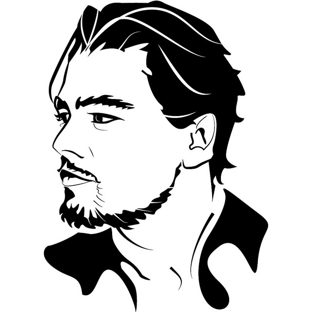 Leonardo Dicaprio Vector Image by Vectorportal, via Flickr ...