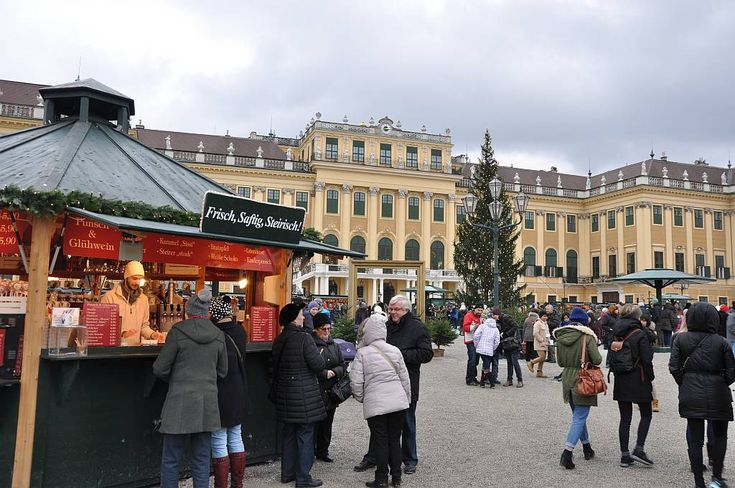 Рождественский рынок и Новогодний ярмарок дворца Шёнбрунн. #Вена #Австрия