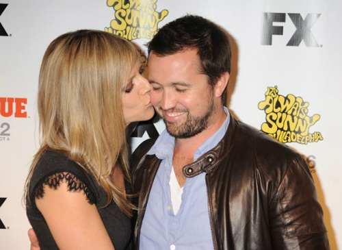 Kaitlin Olson And Rob Mcelhenney Kiss
