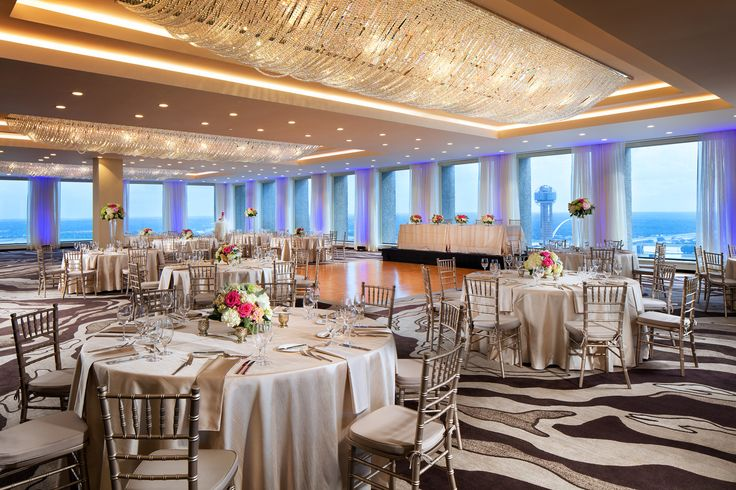 The Pecan Ballroom at the Westin Dallas Downtown. Located on the 332nd floor.