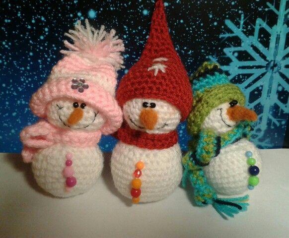Amigurumi  Handmade Snowmans
