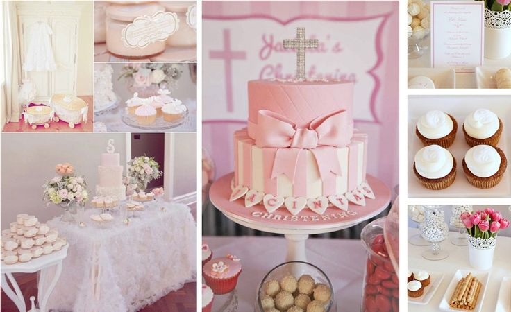 Pink baptism decorations ideas for girls baptism for Baby girl christening decoration ideas
