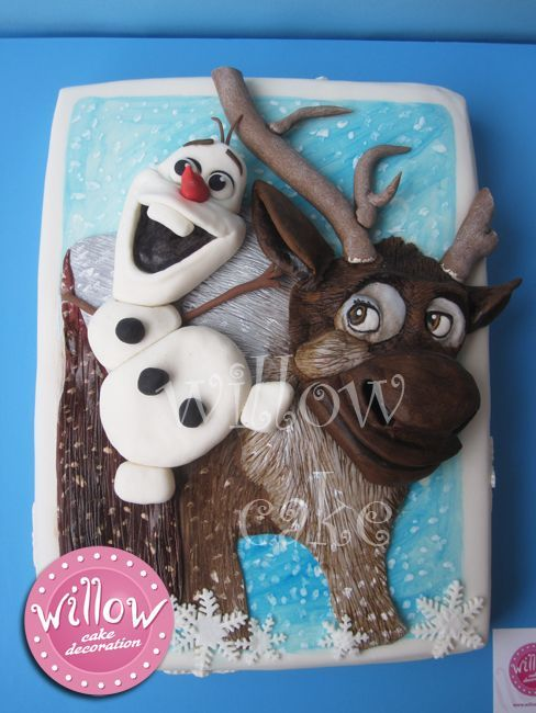 ... | Frozen Cake | Pinterest | Sven Frozen, Frozen Cake and Sheet Cakes