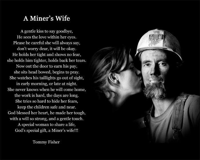 proud to be a coal miners wife!