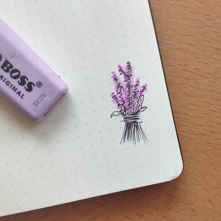 Lavender #planning #moleskine #bujo #bulletjourna…
