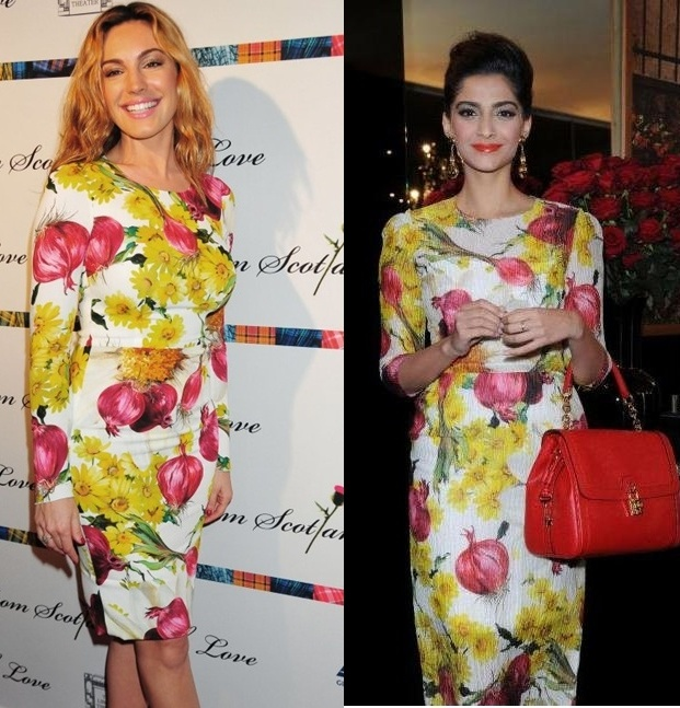 Kelly Brooks and Sonam Kapoor spotted in the same floral number!