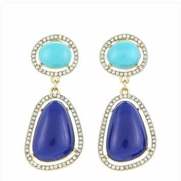 Pave crystal drops - blue  Visit blackvelvetcollection/facebook.com to view full spring collection