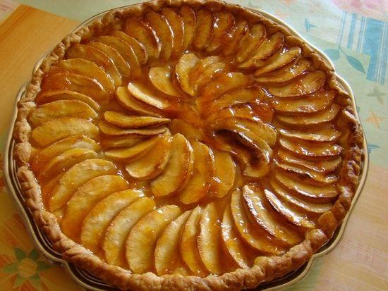 Recette de Tarte aux pommes caramélisées au miel à l'ancienne : la recette facile