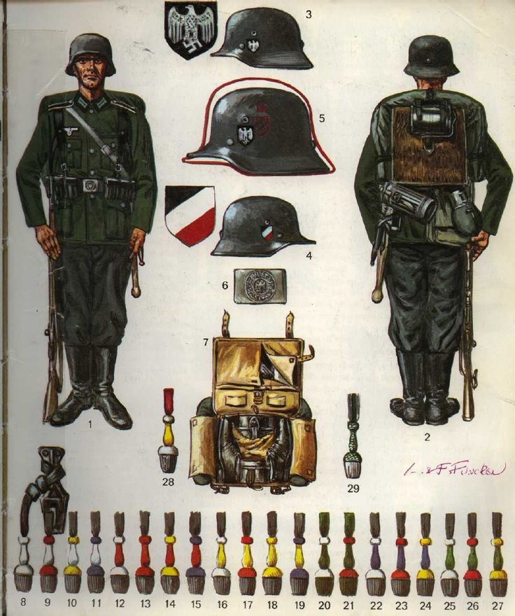 tysk soldat klar til krig 1936-43