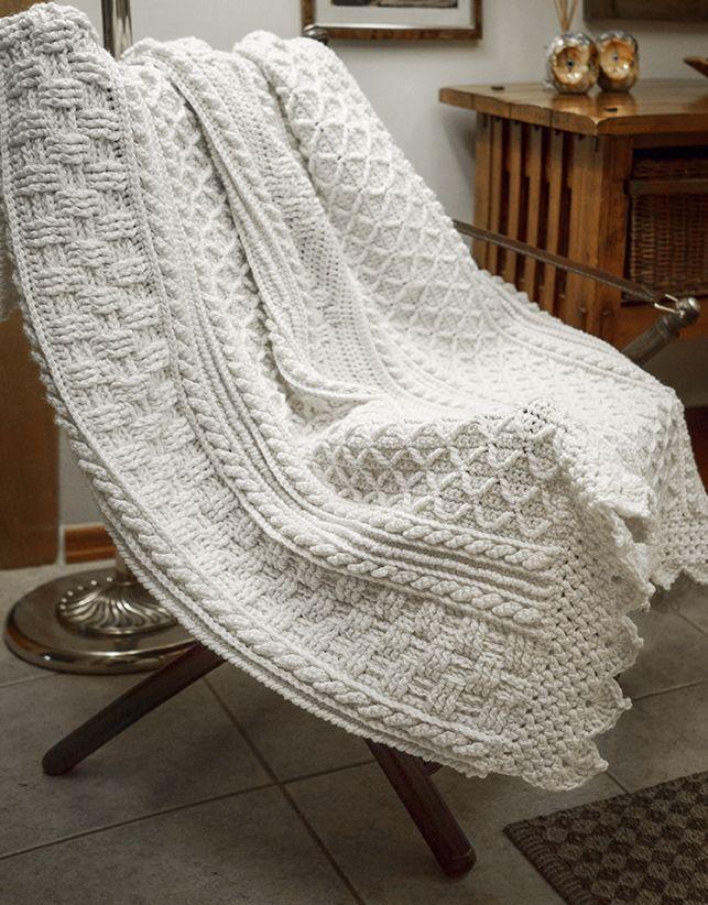 Basket Weave Diamond Throw - by Bonnie Barker Pattern on Ravelry