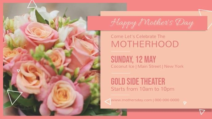 Mother S Day Event Facebook Cover Video Mothers Day Event Mother S Day Banner Mothers Day Advertising