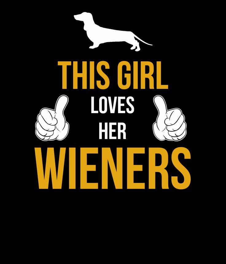 """""""This Girl Loves Her Wieners"""" Ladies Hoodie"""