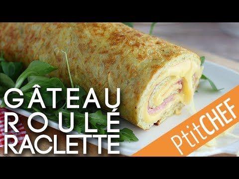 Recette de gâteau roulé salé, aux pommes de terre, jambon et fromage raclette -