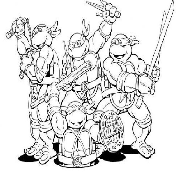 tiger ninja turtles coloring pages - photo#3