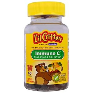L'il Critters, 抵抗力アップビタミンC +ジンク&エキナセア, 60粒 - iHerb.com