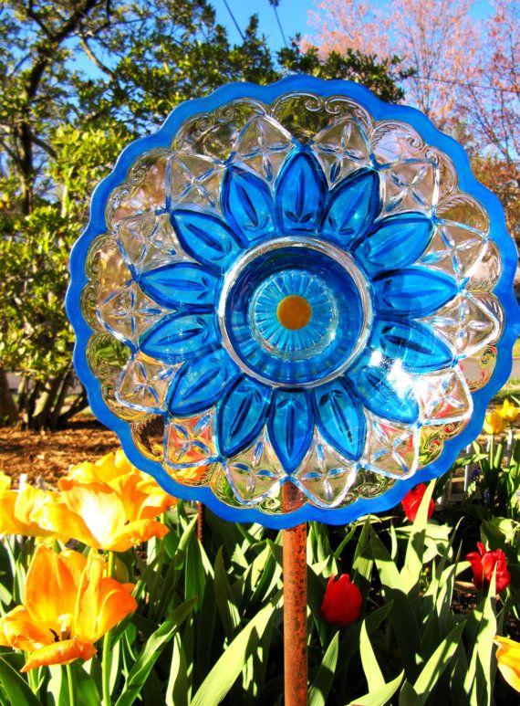 Glass Garden Flower Garden Glass Ceramic Plate By