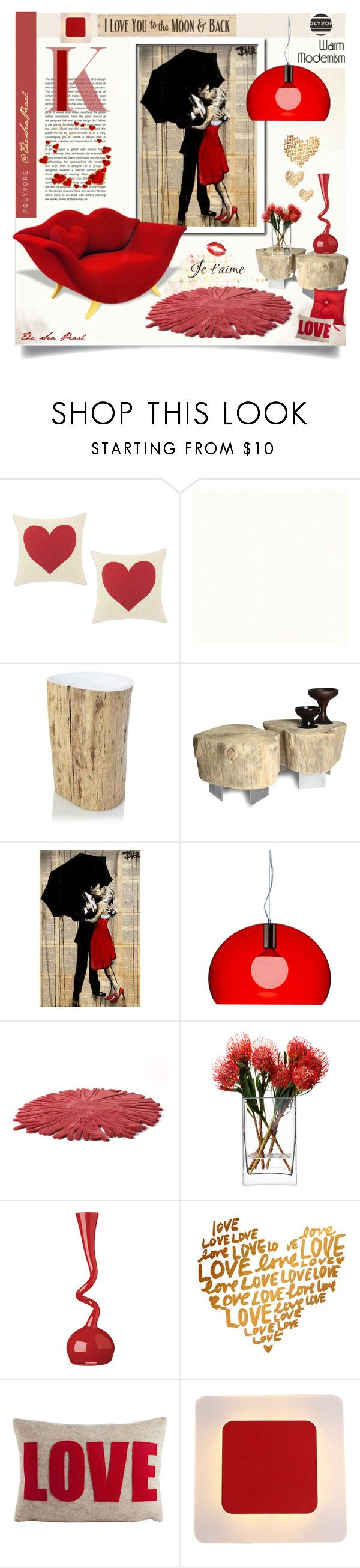 """""""Love Story♡"""" by theseapearl ❤ liked on Polyvore featuring interior, interiors, interior design, home, home decor, interior decorating, French Connection, Kartell, Nodus and LSA International"""