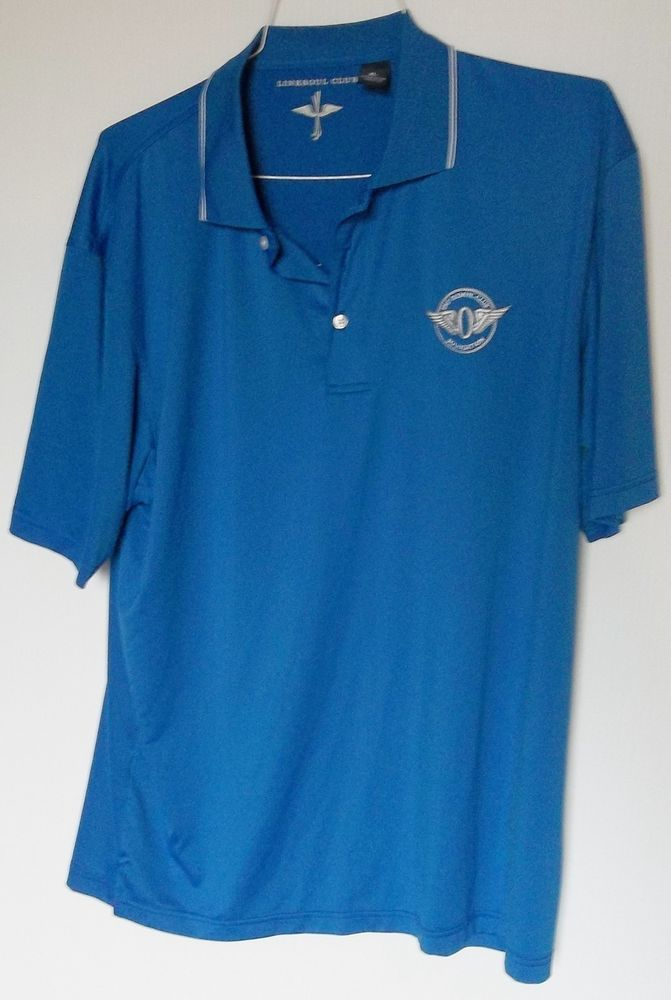 OLYMPIC CLUB FOUNDATION Men's Size XL  Linksoul Club Blue Short Sleeve Shirt  #Olympic #PoloRugby