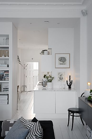 Clean white modern living ♥