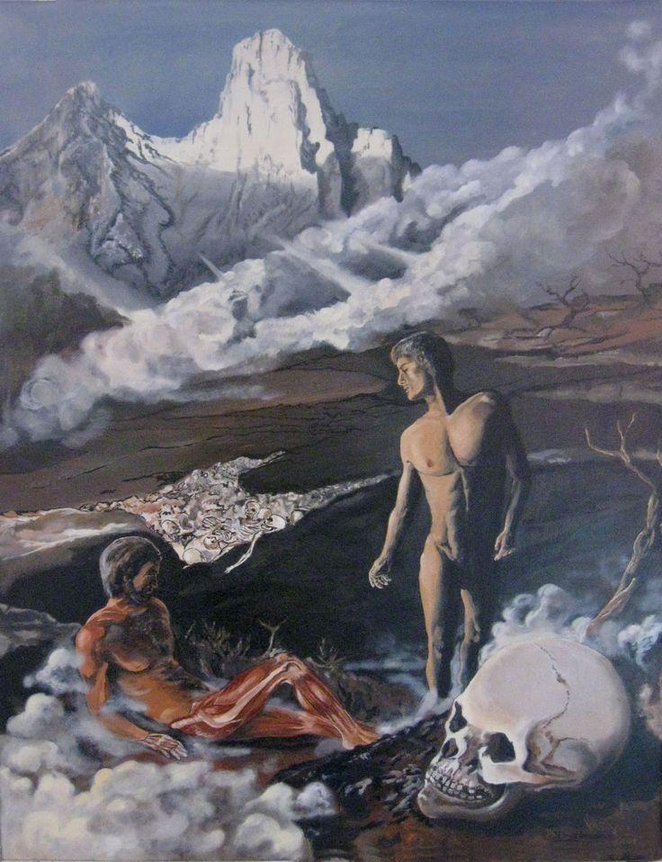 Ezio Bruno Visione del Profeta (1998). Olio su tela