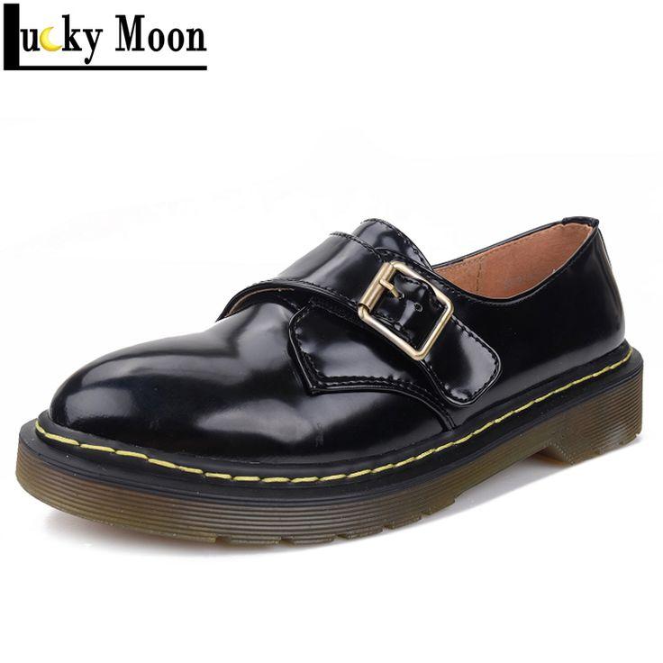 Aliexpress.com: Comprar De la mujer moda Vintage de la hebilla zapatos Creepers planos inferiores gruesos zapatos de plataforma de otoño de cuero punky Casual zapatos PAL31288 1 de zapatos de bebé de fiable proveedores en Lucky Moon Store