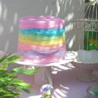 Fairy floss cake  Seen this some where and want to know how to make it lol