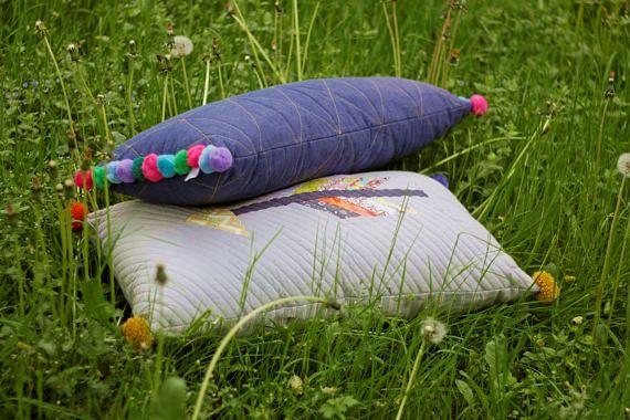 zakkStudio Patchwork pillow ARROW pattern pillow BohoHome