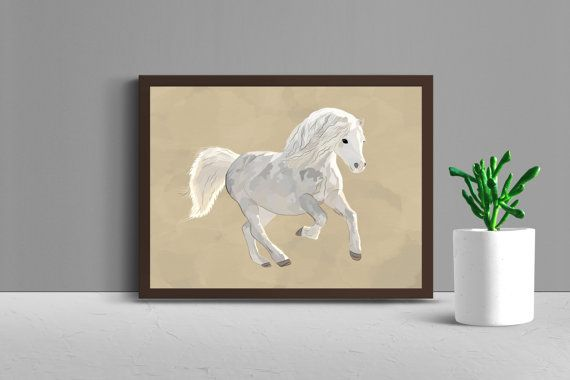 Horse Art, Instant Download, Gift for Horse Lover, Horse Print, Watercolour Art, Horse Painting, Horse Decor  You will receive 3 high resolution (300 DPI) JPEG files that you can download and print at home ( I recommend to use thicker paper around 250 gsm ) or you can take it to your local print shop.  Please note that this is a DIGITAL file, no physical item will be sent.  You will receive: 1 JPEG file size 16x20 1 JPEG file size 11x14 1 JPEG file size 8x10  Please note that colors may…