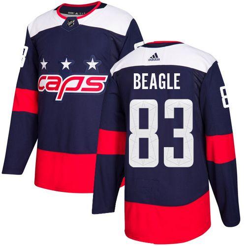 new product 58bcc 844ed Adidas Capitals #83 Jay Beagle Navy Authentic 2018 Stadium ...