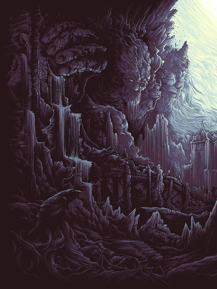 The Earth Itself, Shall Rise From Below, and Tower Over All (1 of 3) by Dan Mumford