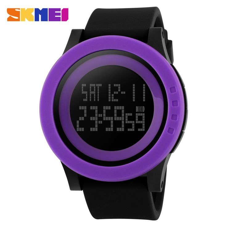 2016 New Brand SKMEI Watch Men Military Sports Watches Fashion Silicone Waterproof LED Digital Watch For Men Clock digital-watch - Purple Black That`s just superb! Visit our store