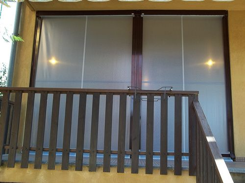 Tenda veranda invernale ermetica con frangivento e tessuto VINITEX retinato antingiallimento Torino www.mftendedasoletorino (2)