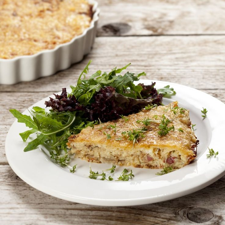 Selleritærte med bacon og rødløg