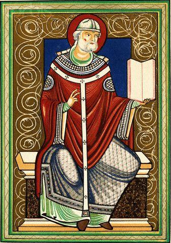 Grégoire Ier, dit le Grand, auteur des Dialogues (né vers 540, mort le 12 mars 604), devient le 64e pape en 590. Il donna son nom au chant grégorien, chant rituel de l'Église organisé au début du 7e siècle.