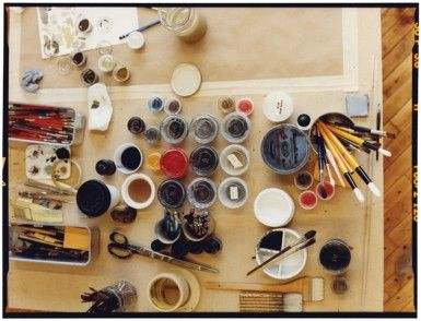 A table of a painter