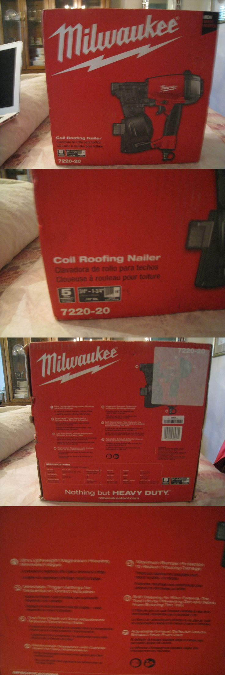 Roofing Guns 42243: New Milwaukee 7220-20 Coil Roofing Nail Gun -> BUY IT NOW ONLY: $150 on eBay!