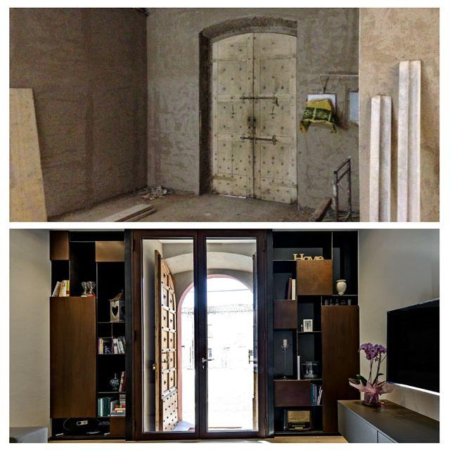 Il restauro dell'antico portone di ingresso